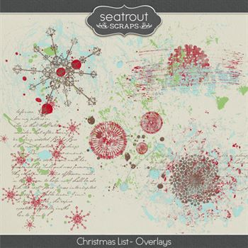 Christmas List - Overlays Digital Art - Digital Scrapbooking Kits