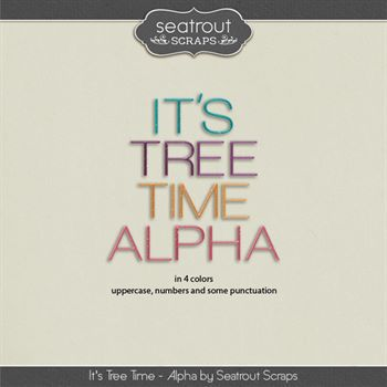 It's Tree Time - Alpha Digital Art - Digital Scrapbooking Kits