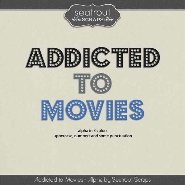 Movie Addiction - Alpha Digital Art - Digital Scrapbooking Kits