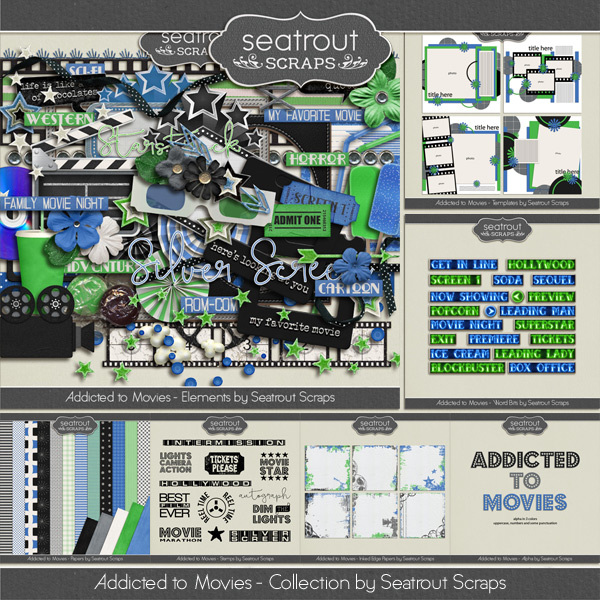 Movie Addiction - Bundle Digital Art - Digital Scrapbooking Kits