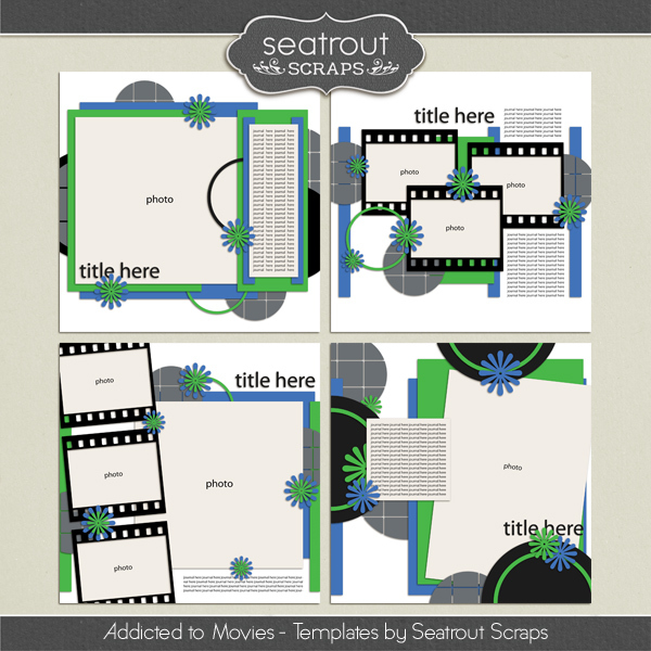 Movie Addiction - Templates Digital Art - Digital Scrapbooking Kits