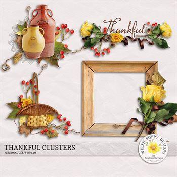 Thankful Clusters Digital Art - Digital Scrapbooking Kits