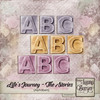 Lifes Journey - The Stories Alphabets Digital Art - Digital Scrapbooking Kits
