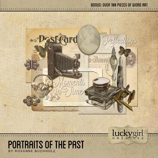 Portraits Of The Past Digital Art - Digital Scrapbooking Kits