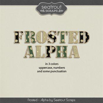 Frosted Alphas Digital Art - Digital Scrapbooking Kits