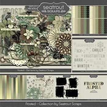 Frosted Bundle Digital Art - Digital Scrapbooking Kits