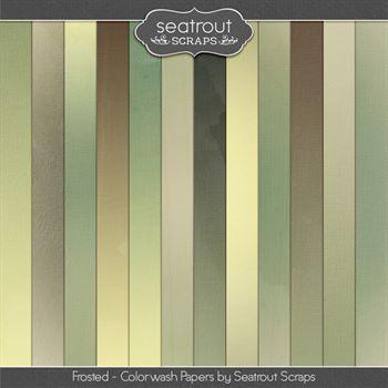 Frosted Colorwash Papers Digital Art - Digital Scrapbooking Kits