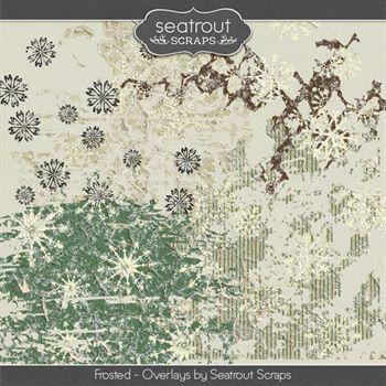 Frosted Overlays Digital Art - Digital Scrapbooking Kits