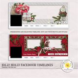 Jolly Holly Pre-made Facebook Timelines