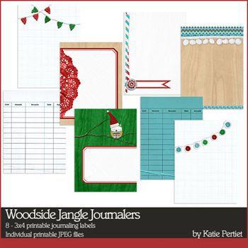 Woodside Jangle Journalers Digital Art - Digital Scrapbooking Kits