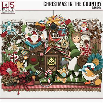Christmas In The Country - Elements Digital Art - Digital Scrapbooking Kits