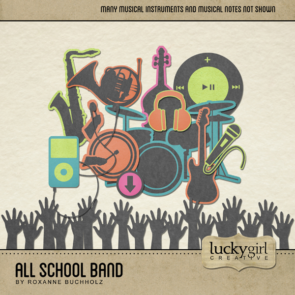 All School Band Digital Art - Digital Scrapbooking Kits