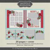 12 X 12 Christmas Predesigned Editable Album