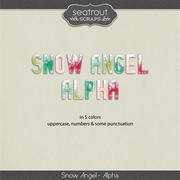 Snow Angel Alpha Digital Art - Digital Scrapbooking Kits