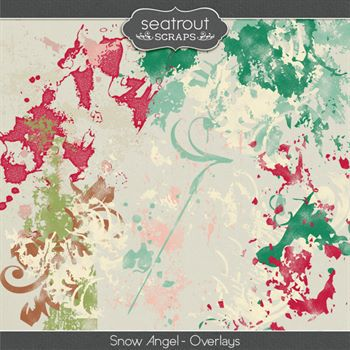 Snow Angel Overlays Digital Art - Digital Scrapbooking Kits
