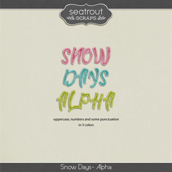 Snow Days Alpha Digital Art - Digital Scrapbooking Kits