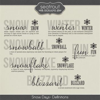 Snow Days Definitions Digital Art - Digital Scrapbooking Kits