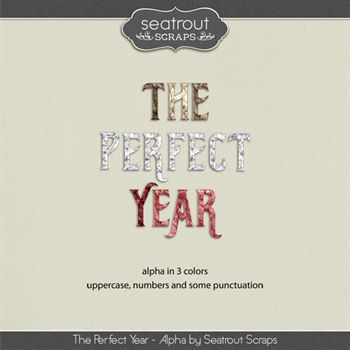 The Perfect Year Alpha Digital Art - Digital Scrapbooking Kits
