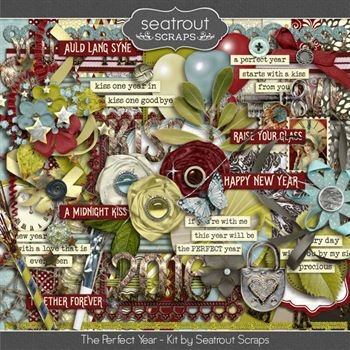 The Perfect Year Kit Digital Art - Digital Scrapbooking Kits