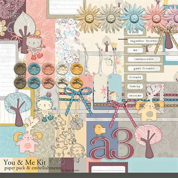 You And Me Kit Digital Art - Digital Scrapbooking Kits