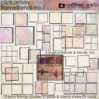 Click.artistry Frameblends 1 Digital Art - Digital Scrapbooking Kits