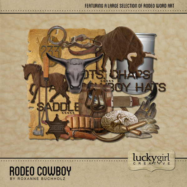 Rodeo Cowboy Digital Art - Digital Scrapbooking Kits