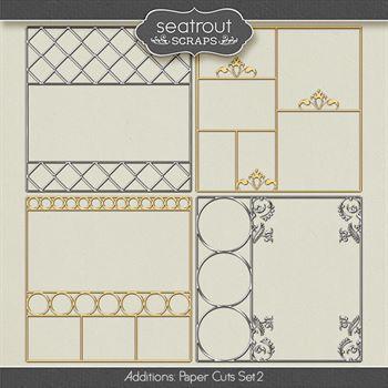 Paper Cuts Set 2 Digital Art - Digital Scrapbooking Kits