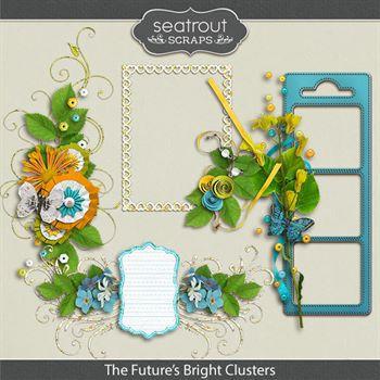 The Future's Bright Clusters Digital Art - Digital Scrapbooking Kits