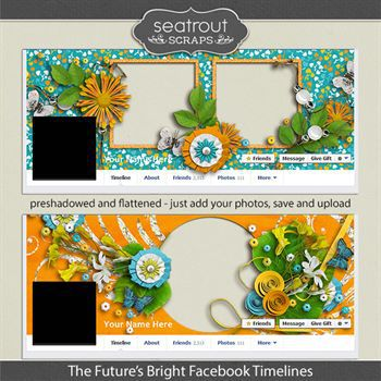 The Future's Bright Facebook Timelines Digital Art - Digital Scrapbooking Kits