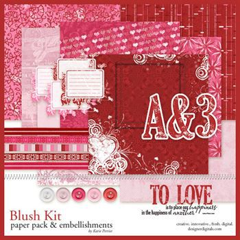 Blush Kit Digital Art - Digital Scrapbooking Kits