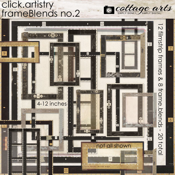 Click.Artistry Frame Blends 2 Digital Art - Digital Scrapbooking Kits