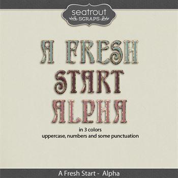A Fresh Start Alpha Digital Art - Digital Scrapbooking Kits