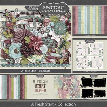 A Fresh Start Bundle Digital Art - Digital Scrapbooking Kits