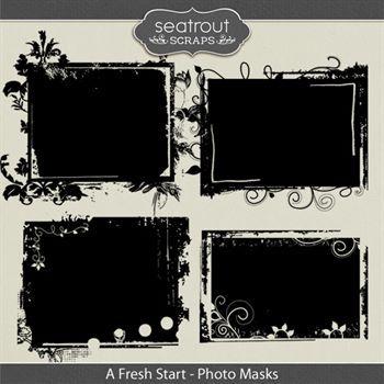 A Fresh Start Photo Masks Digital Art - Digital Scrapbooking Kits