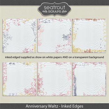 Anniversary Waltz Inked Edges Digital Art - Digital Scrapbooking Kits