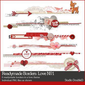Readymade Borders Love No. 01 Digital Art - Digital Scrapbooking Kits