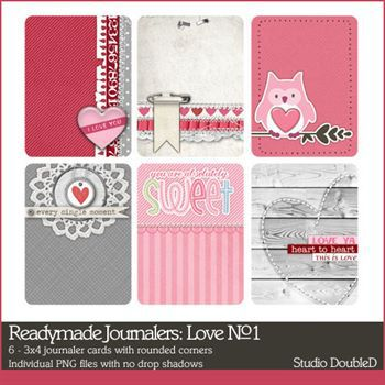 Readymade Journalers Love No. 01 Digital Art - Digital Scrapbooking Kits