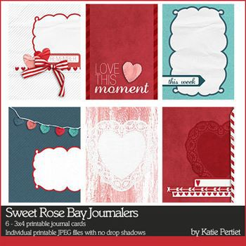 Sweet Rose Bay Journalers Digital Art - Digital Scrapbooking Kits