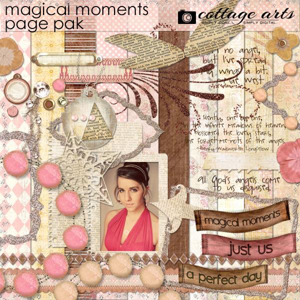 Magical Moments Page Pak Digital Art - Digital Scrapbooking Kits