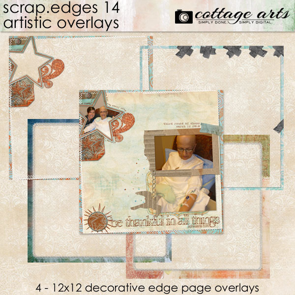 Scrap.edges 14 - Artistic Overlays Digital Art - Digital Scrapbooking Kits
