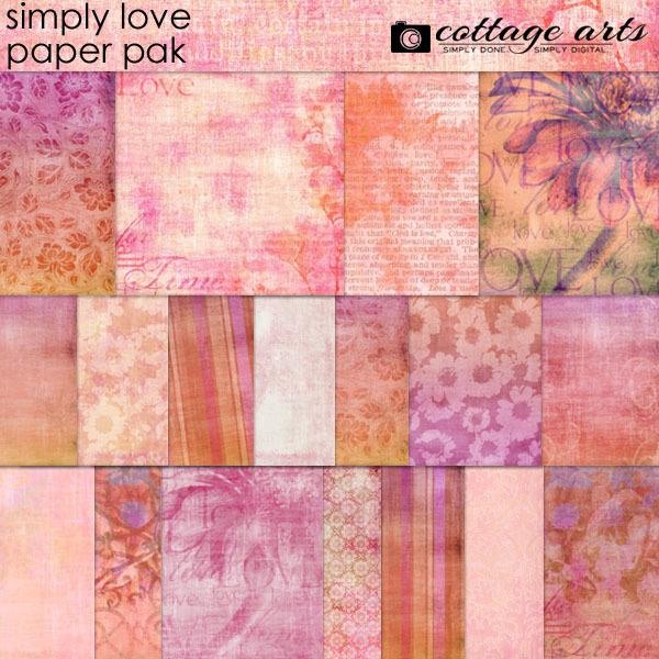 Simply Love Paper Pak Digital Art - Digital Scrapbooking Kits