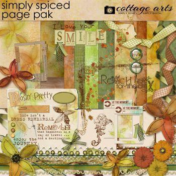 Simply Spiced Page Pak Digital Art - Digital Scrapbooking Kits