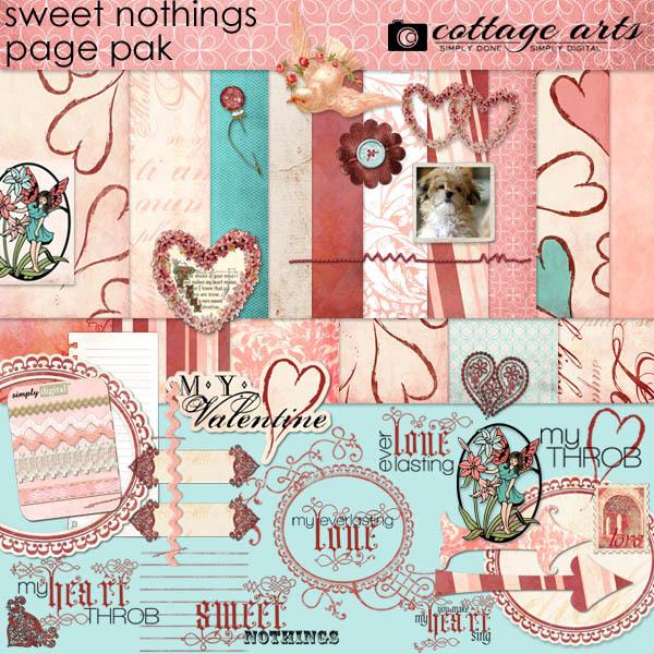 Sweet Nothings Page Pak Digital Art - Digital Scrapbooking Kits