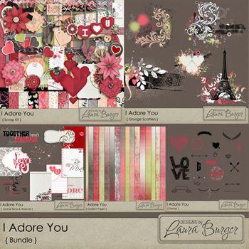 I Adore You Bundle Digital Art - Digital Scrapbooking Kits