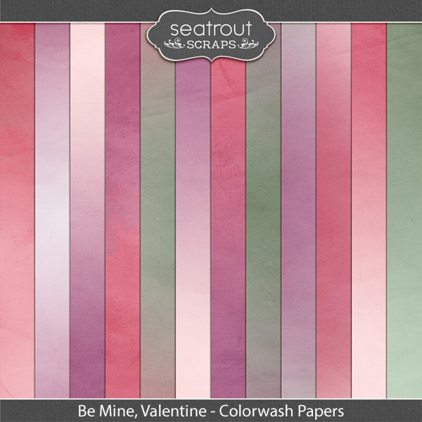 Be Mine, Valentine Colorwash Papers