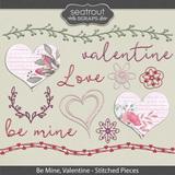 Be Mine, Valentine Stitched Pieces