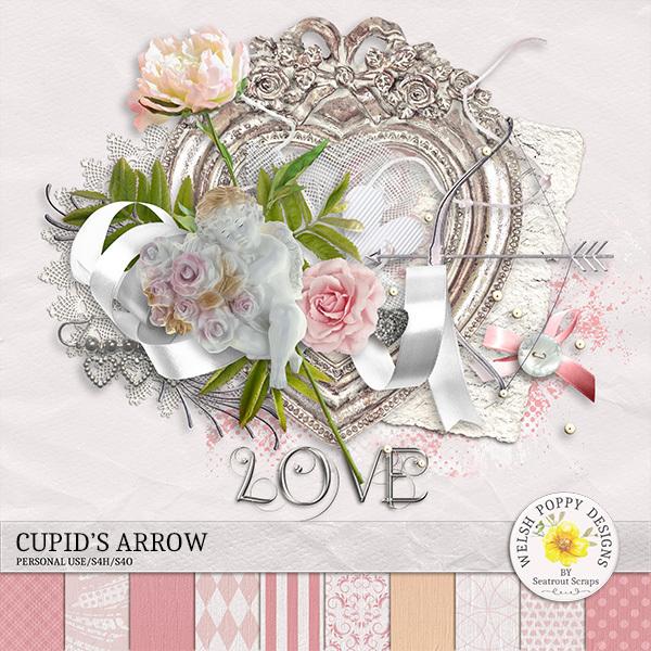 Cupid's Arrow Mini Kit Digital Art - Digital Scrapbooking Kits