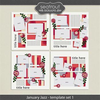 January Jazz Template Set 1