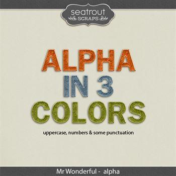 Mr Wonderful Alpha Digital Art - Digital Scrapbooking Kits