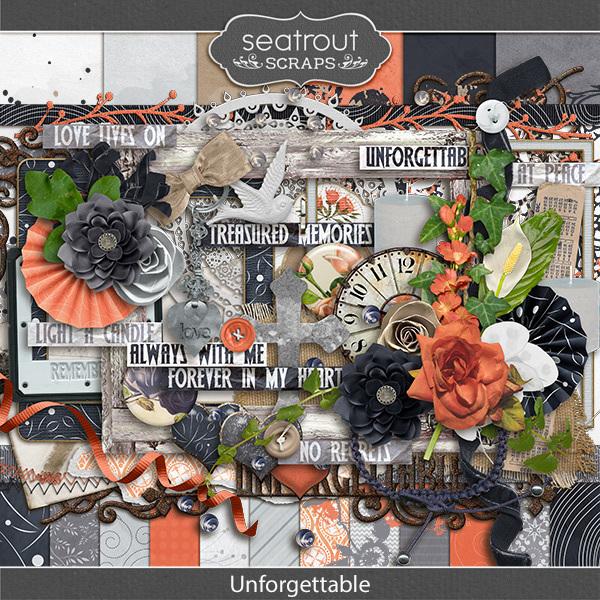 Unforgettable Digital Art - Digital Scrapbooking Kits